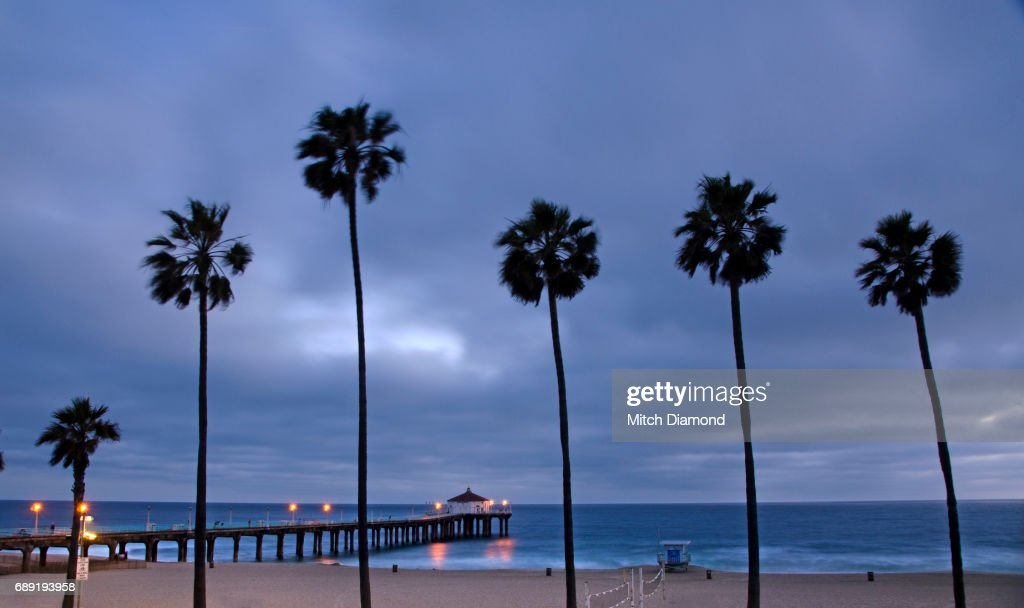 Manhattan Beach Evening : Stock Photo