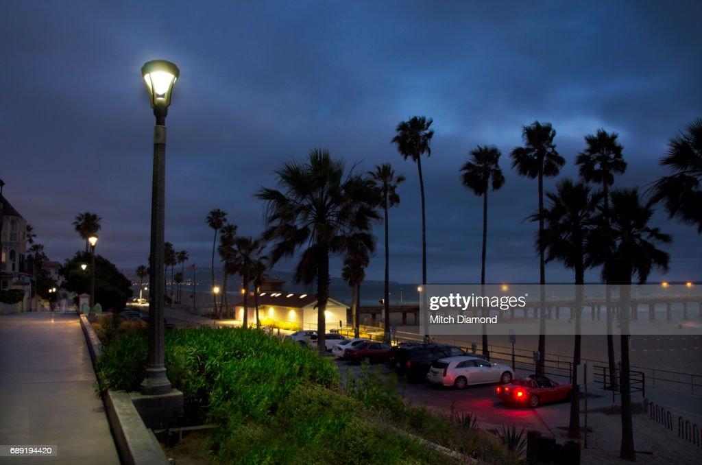 Manhattan Beach Evening : Stock Photo
