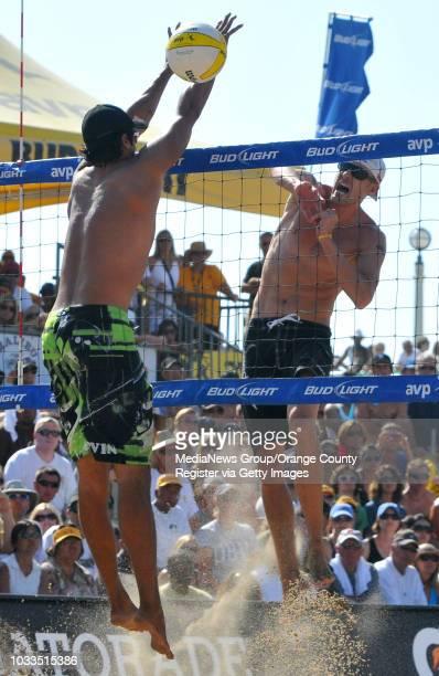 BEACH 07/19/09 AVP Manhattan Beach Open Men's Final Sean Rosenthal and Jake Gibb defeated Matt Olson and Kevin Wong Jake Gibb gets his spike around...