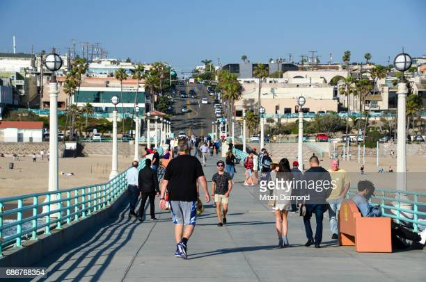 manhattan beach - la waterfront stock pictures, royalty-free photos & images