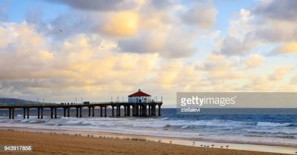Manhattan Beach pier at sunset, Califonia