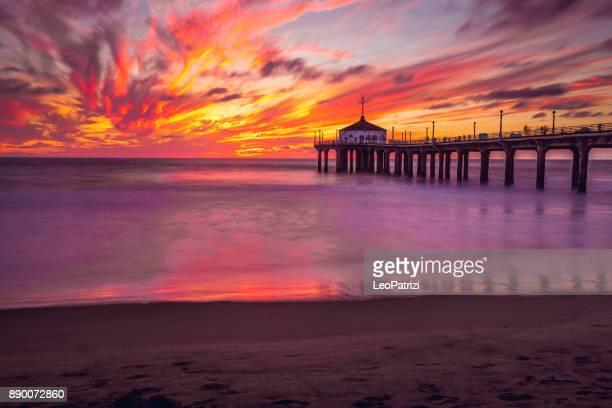 Manhattan Beach Pier in California - Los Angeles