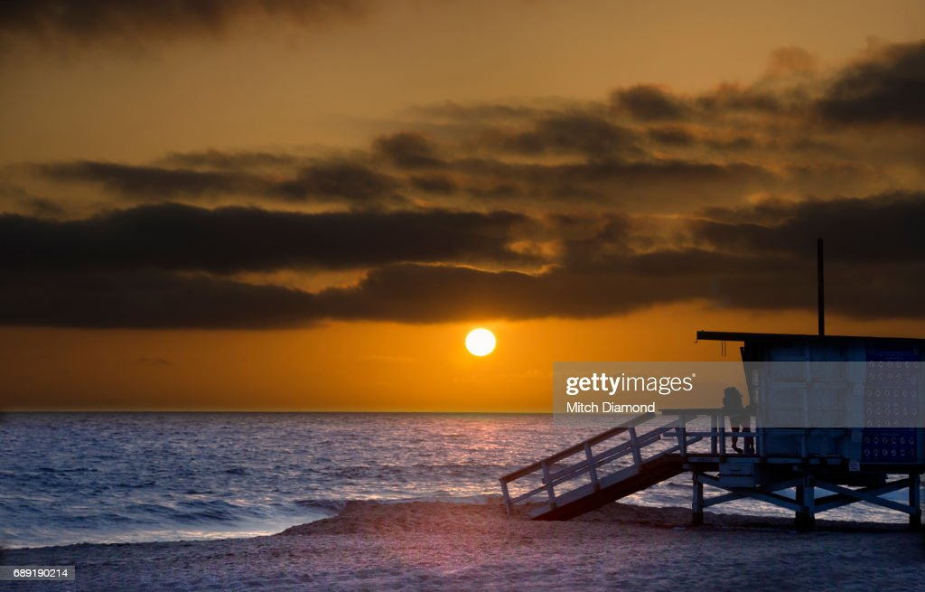 Manhattan Beach Sunset : Stock Photo