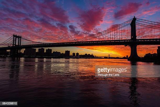 Manhattan Bridge during Sunrise