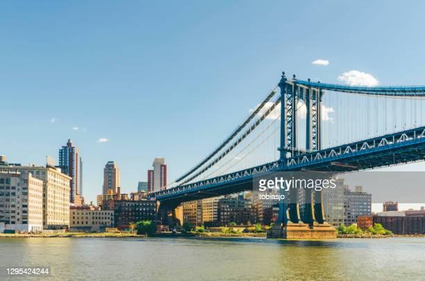 manhattan bridge, new york city - brooklyn new york stock pictures, royalty-free photos & images