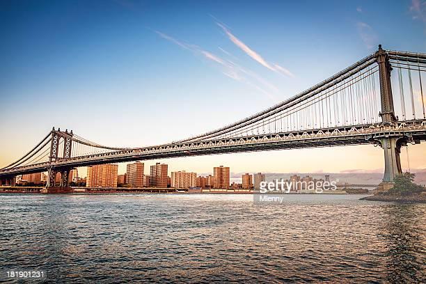 Manhattan Bridge New York City Skyline