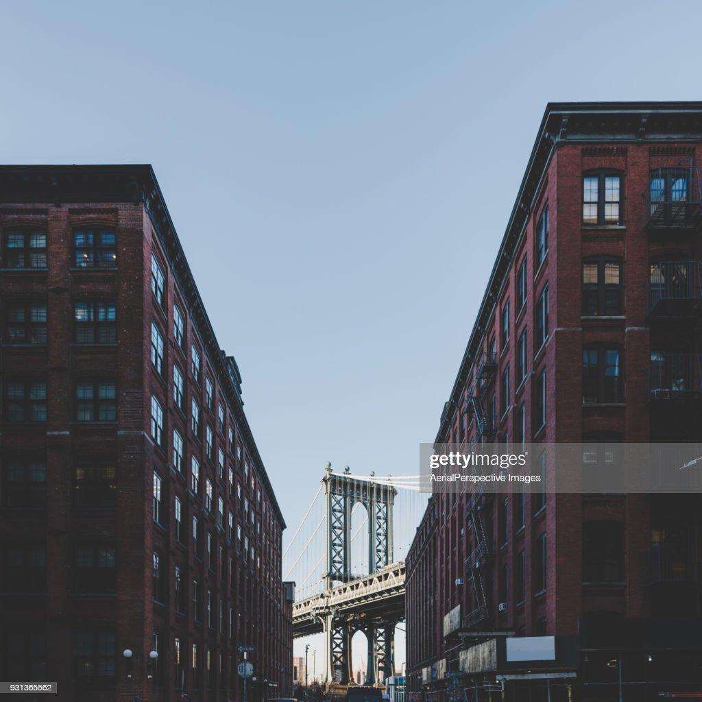 Manhattan bridge, New York city, USA : Stock Photo