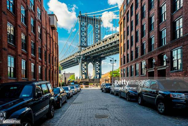 manhattan bridge, new york - brooklyn new york stock pictures, royalty-free photos & images