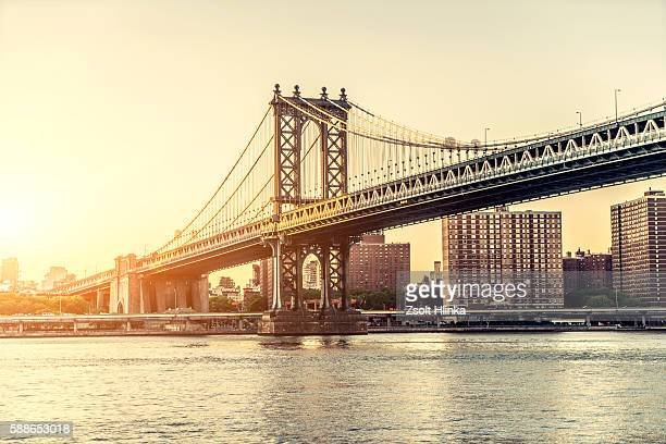 manhattan bridge - river hudson stock pictures, royalty-free photos & images