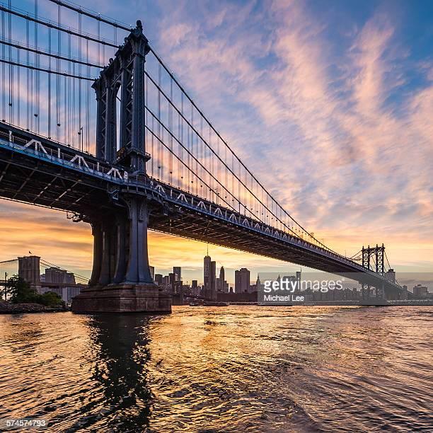 Manhattan Bridge Sunset - New York