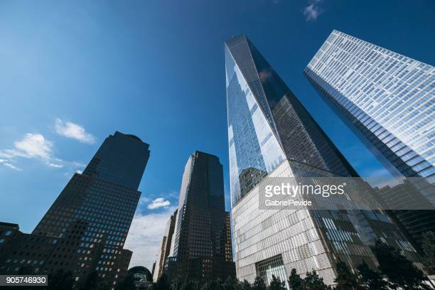 manhattan buildings - one world trade center stock pictures, royalty-free photos & images