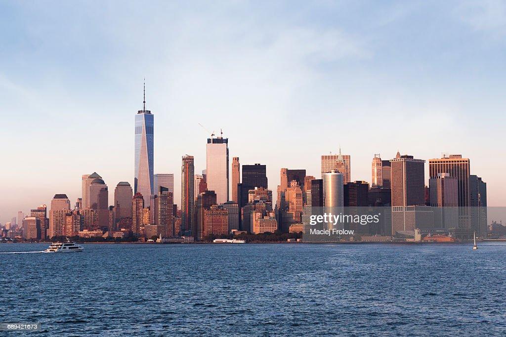 Manhattan city skyline : Stock Photo