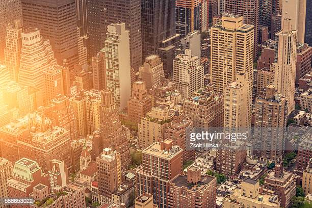 Manhattan cityscape aerial view