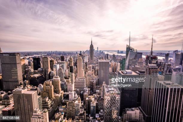 Manhattan cityscape & Empire State Building