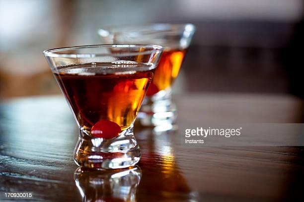 Manhattan cocktails