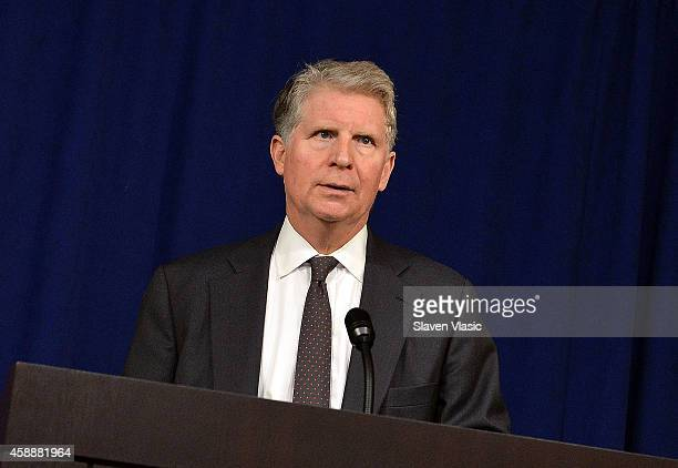 Manhattan District Attorney Cyrus R Vance Jr attends Joyful Heart Foundation's special announcement about up to $35 Million in funding to help...