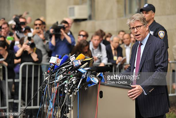 Manhattan District Attorney Cyrus R. Vance Jr. Speaks to the media after a bail hearing was held for Dominique Strauss-Kahn, former International...