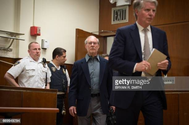 Manhattan District Attorney Cyrus Vance and Stanley Patz arrive to speak following the sentencing of Pedro Hernandez convicted for the 1979...