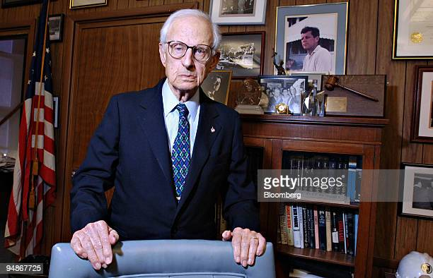 Manhattan District Attorney Robert Morgenthau poses in his New York office Monday June 20 2005