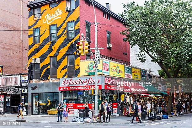 Manhattan, East Village, shops and restaurants in the 3rd Avenue