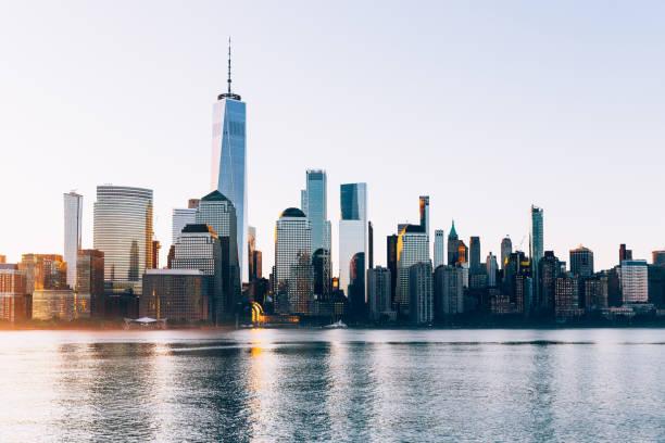 Manhattan Financial District at sunrise, New York, USA
