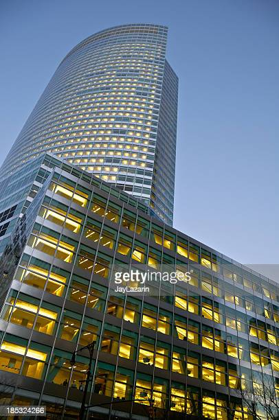 manhattan financial district cityscape, goldman sachs, new york city - 2000s style stock pictures, royalty-free photos & images