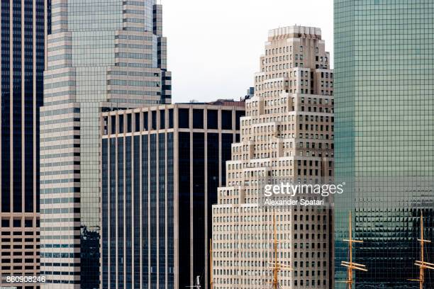 manhattan financial district, new york city, usa - wall street stock photos and pictures
