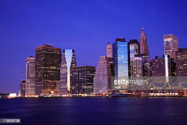 manhattan financial district, new york - south street seaport stock photos and pictures