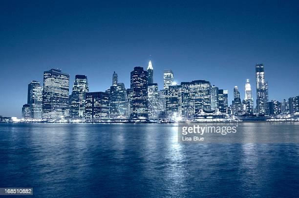 Manhattan Financial District Skyline NYC