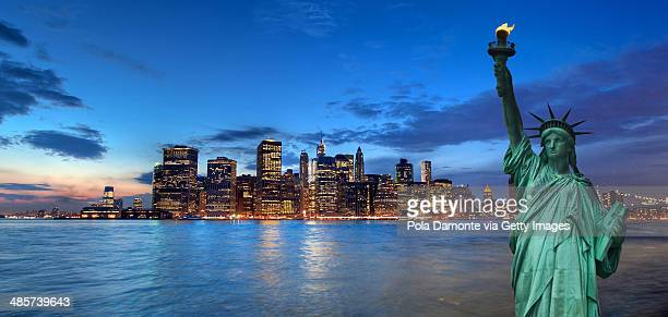 Manhattan from Brooklyn, New York, USA