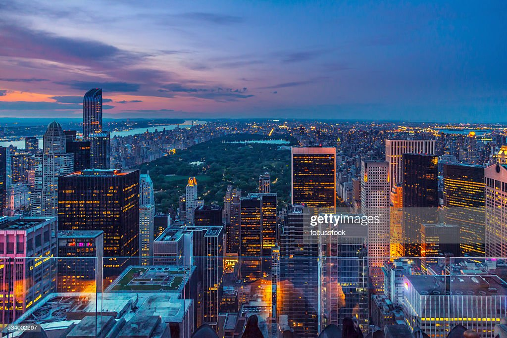 Manhattan from the top : Stock Photo