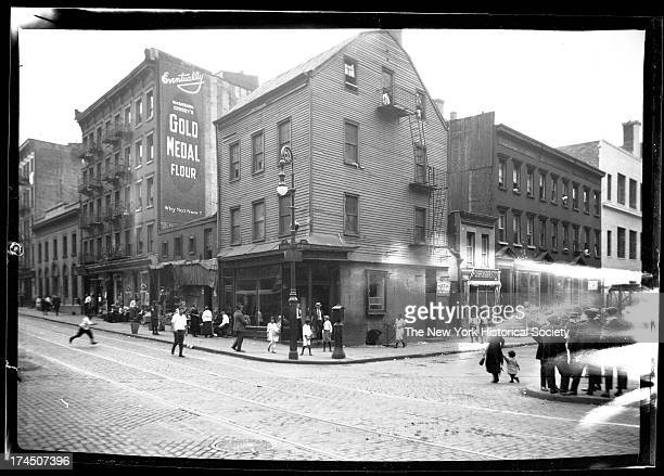 intersection of Spring Street and Mulberry Street New York New York late 19th or early 20th century