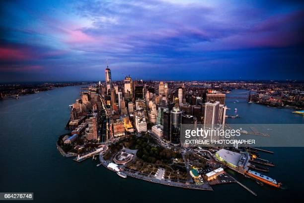 Manhattan island in New York City