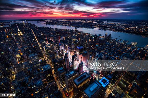 manhattan island in new york city - times square manhattan stock pictures, royalty-free photos & images