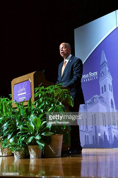 Manhattan Kansas 5272015 The Honorable Jeh Johnson Secretary US Department of Homeland Security delivers his Landon speech to the student body of...