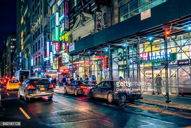 Manhattan Koreatown at night