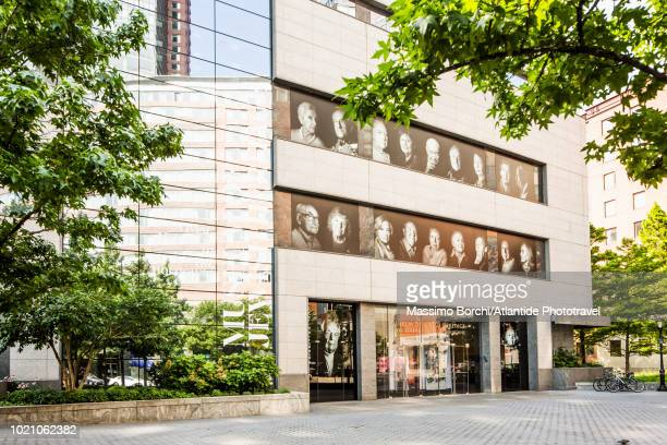 manhattan, lower manhattan, battery park city, the entrance of museum of jewish heritage - holocaust stock pictures, royalty-free photos & images