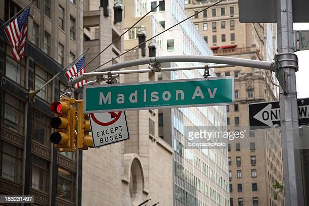 manhattan: madison avenue - madison avenue stock pictures, royalty-free photos & images