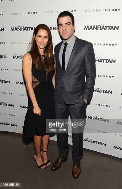 Manhattan Magazine Editor In Chief Cristina Cuomo and Zachary Quinto attend Manhattan Magazine Men's Issue party hosted By Zach Quinto on April 9...