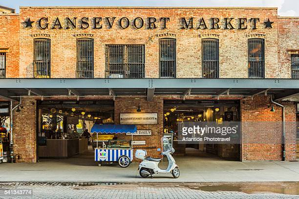 Manhattan, Meatpacking District, the entrance of the Gansevoort Market