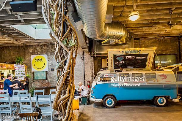 Manhattan, Meatpacking District, the interior of the Gansevoort Market