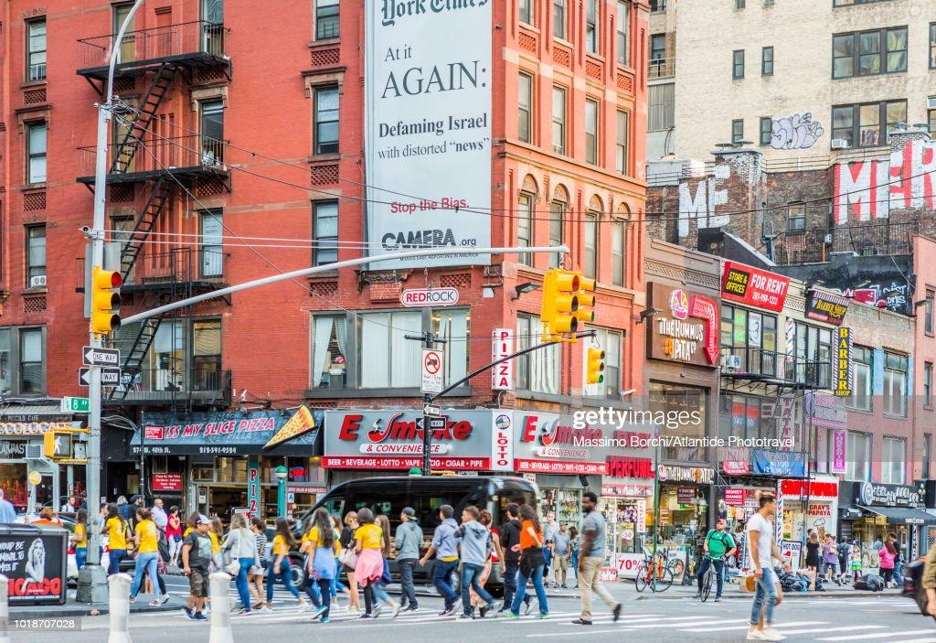 Manhattan Midtown Manhattan Pedestrian Crosswalk On The Eighth