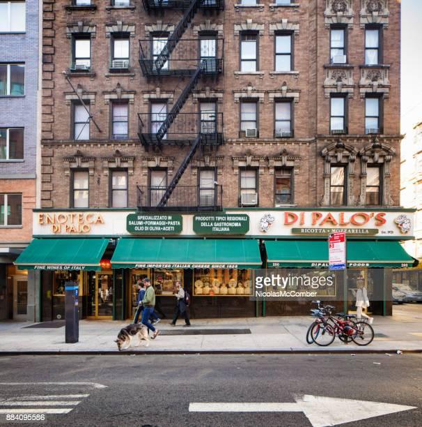Manhattan New York city little Italy Di Palo's famous Italian food store facade