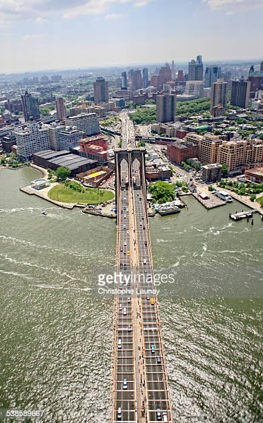 manhattan, new york city, new york, united states of america. - puente de brooklyn fotografías e imágenes de stock