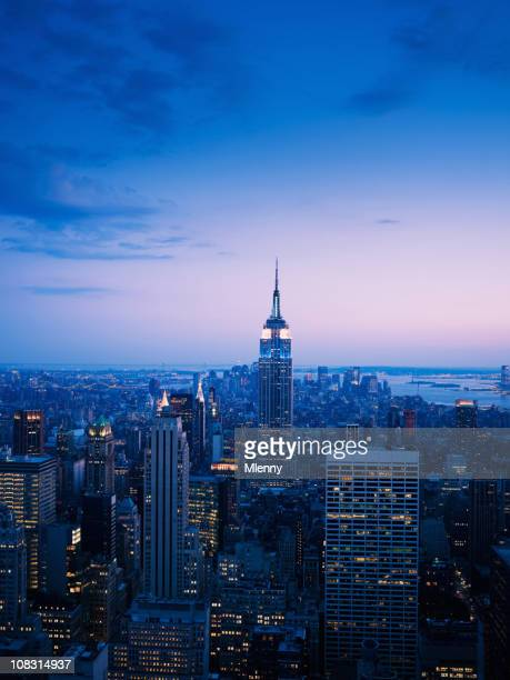 manhattan new york city skyline view - monument stock pictures, royalty-free photos & images