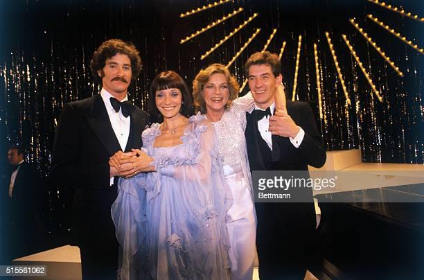 Manhattan New York New York Happy Tony Award winners gather at ceremonies are Kevin Kline Jane Lapotaire Lauren Bacall and Ian McKellen who won...