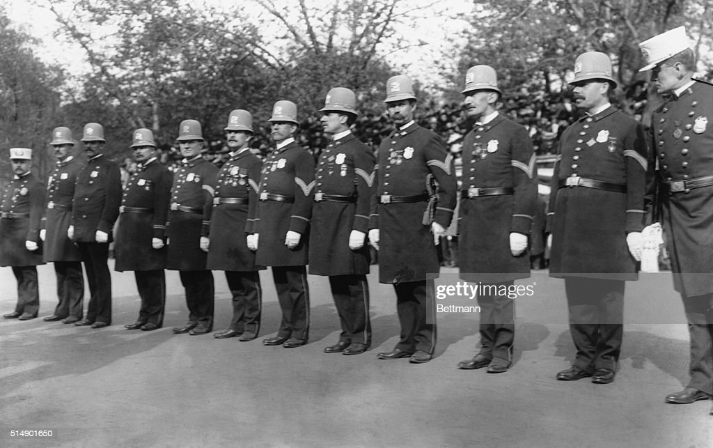 Police Reviewing Central Park : News Photo