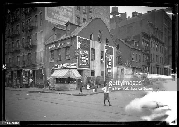 northwest corner of Prince Street and Mulberry Street New York New York late 19th or early 20th century