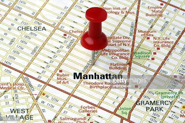 Manhattan auf einer Karte anzeigen.