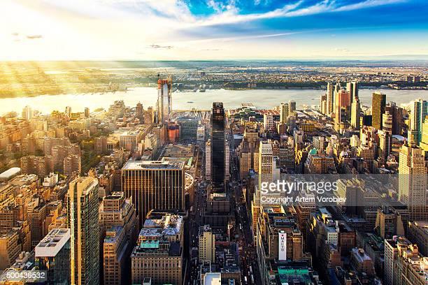 Manhattan on a sunlit afternoon